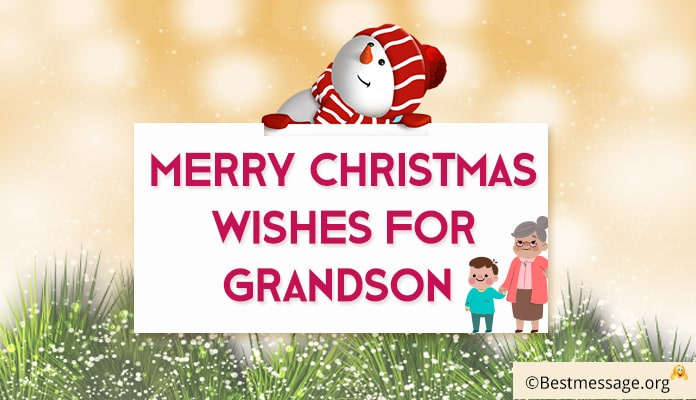 Grandson Merry Christmas Wishes Image - Christmas Messages for Grandson