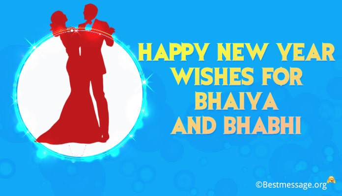 Happy New Year Wishes for Bhaiya and Bhabhi – New Year Hindi Messages