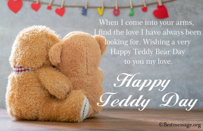 Teddy Day Messages 2021, Romantic Teddy Day Wishes Image