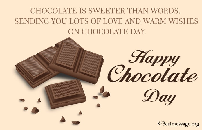 Happy Chocolate Day Messages 2021, Chocolate Day Images