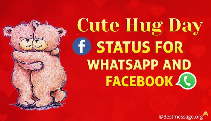 Cute Hug Day Status - Hug Whatsapp Status Messages
