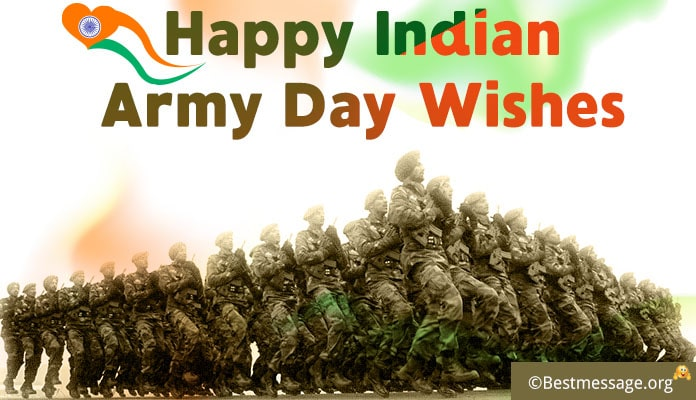 Happy Indian Army Day Wishes - Army Greetings Messages Image