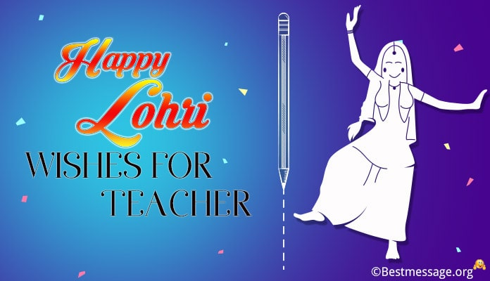 Lohri Wishes for Teacher - Happy Lohri Messages Greetings Image