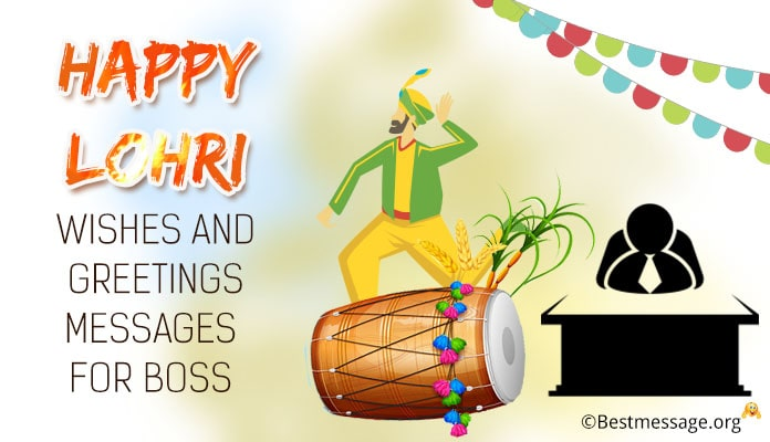 Happy Lohri Wishes for Boss - Lohri Messages in Hindi and English
