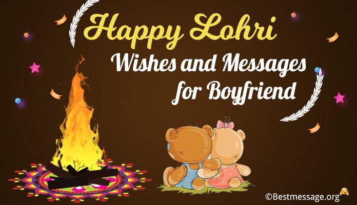 Happy Lohri Messages for Boyfriend - Lohri Wishes for Lover