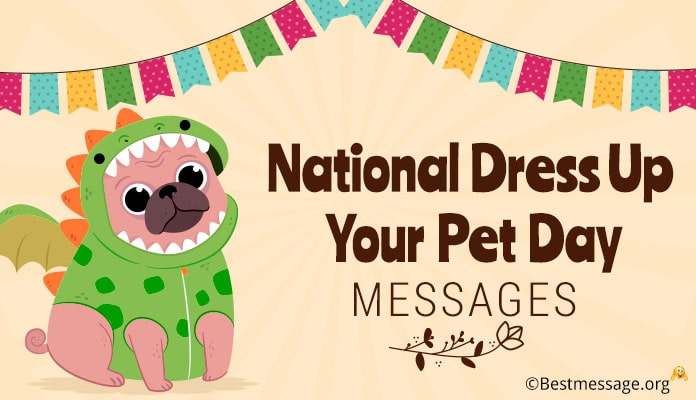 National Dress Up Your Pet Day Messages Greetings Wishes