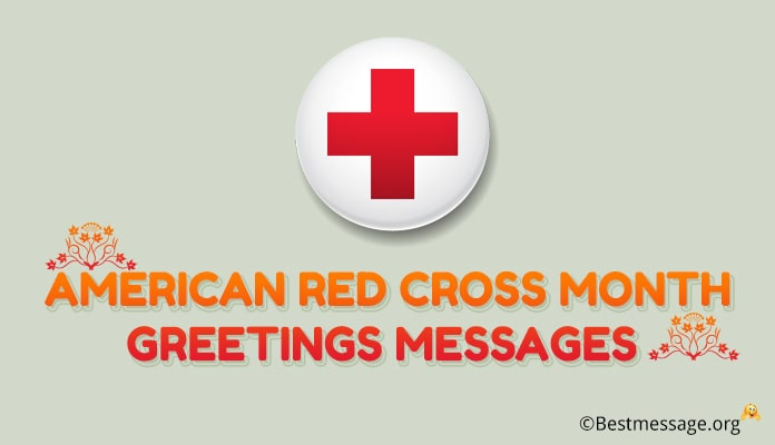 American Red cross Month Greetings Messages Image