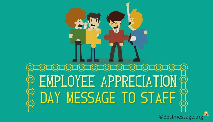 Employee Appreciation Day Message to Staff