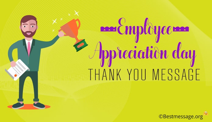 Employee Appreciation Day Thank You Message, Notes and Cards