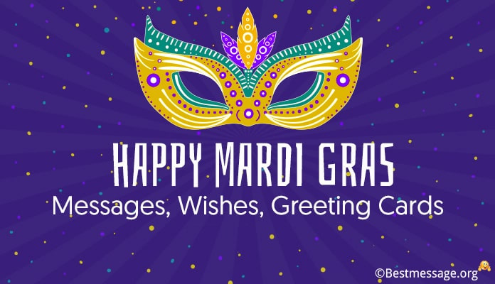 Happy Mardi Gras Messages - greeting card wishes Image