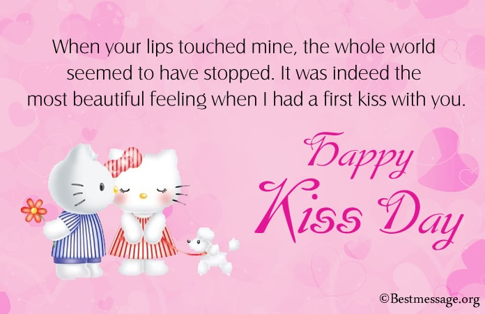 Happy Kiss Day Images with Messages