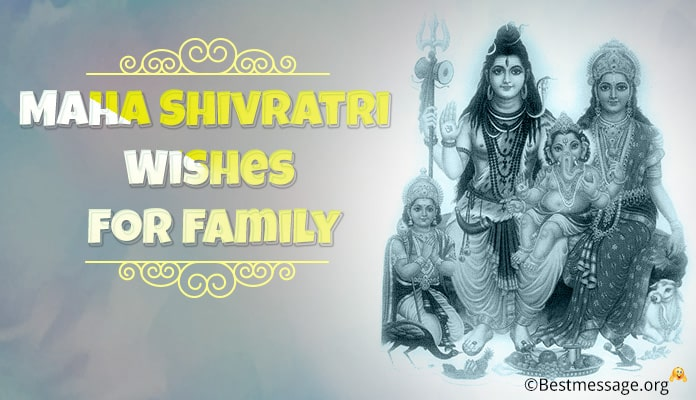 Maha Shivratri wishes for family - Shivaratri Image Messages