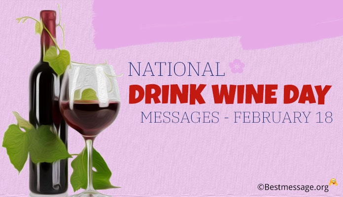 National Drink Wine Day Messages, images