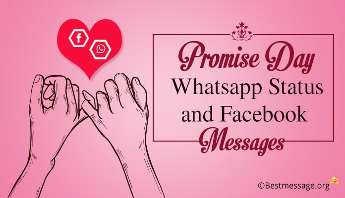 Promise Day Whatsapp Status, Facebook Messages
