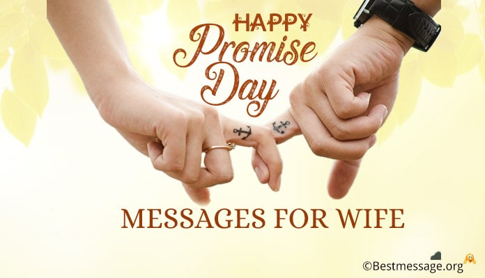 Promise Day messages for Wife - Promise Day Wishes Image