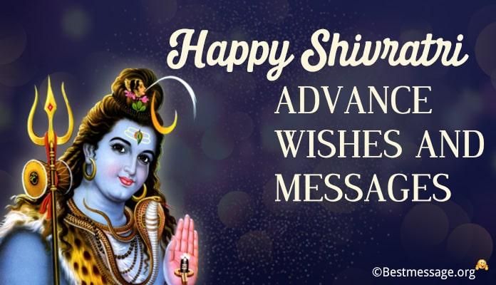 advance shivaratri wishes, shivaratri advance messages Image