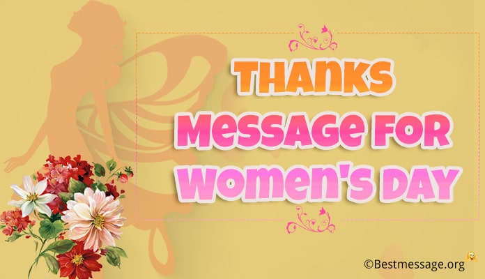 Thank You Message for Women's Day Wishes with Image