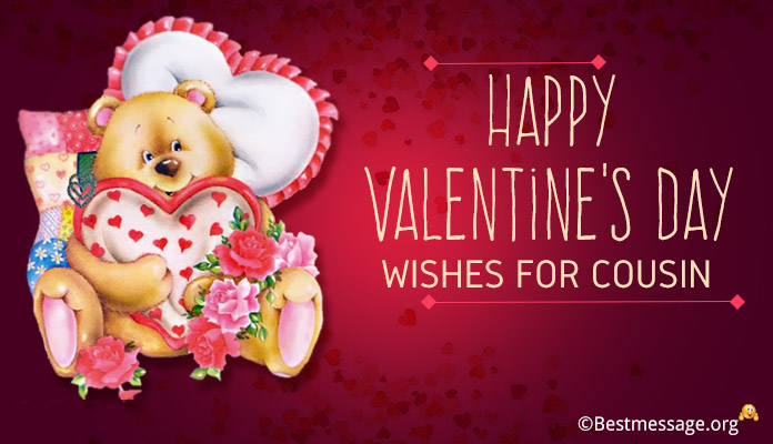Happy Valentine's Day Wishes for Cousin - Valentine Day Greetings Message Image