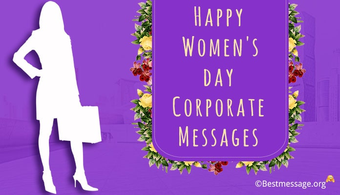 Women's Day Corporate Messages, Wishes with image