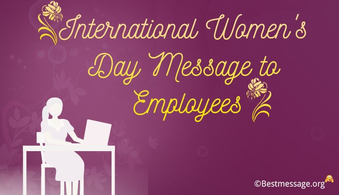 International Women's Day Wishes for Employees - Messages Image