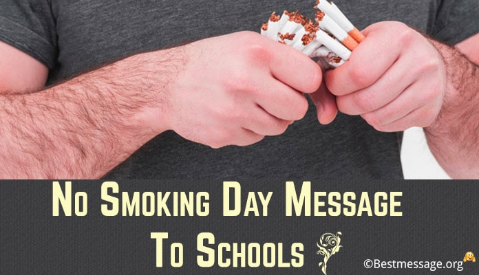 No Smoking Day Message to Schools, Posters Slogans