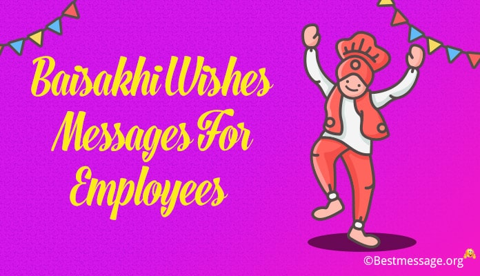 Baisakhi wishes for employees