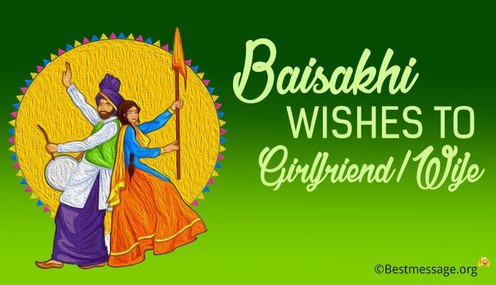 Baisakhi wishes to Girlfriend, Wife Baisakhi Messages Image