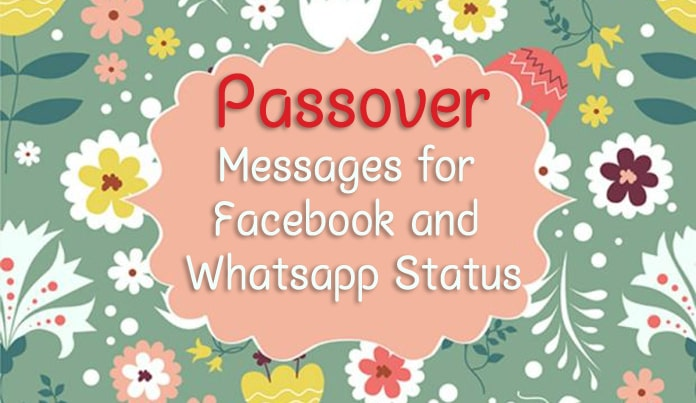 Passover Facebook Messages - Passover Whatsapp Status