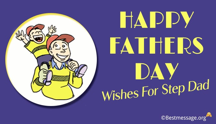 Fathers Day Wishes for Step Dad - Card messages Image