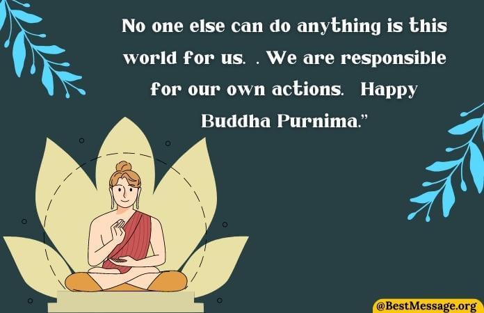 Happy Buddha Purnima Wishes in English, Budh Purnima msg Images