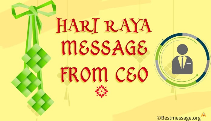 Hari Raya message from CEO
