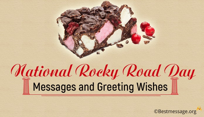 National Rocky Road Ice Cream Day Messages
