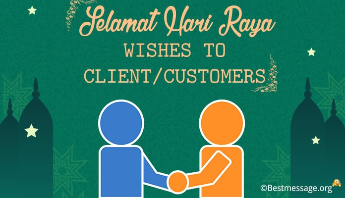Selamat Hari Raya Wishes to client/customers