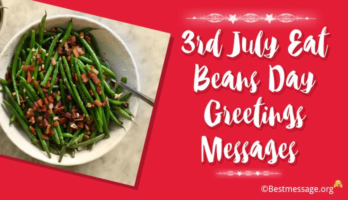 Eat Beans Day Greetings Messages Image