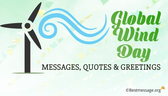 Global Wind Day Messages, Greetings Image