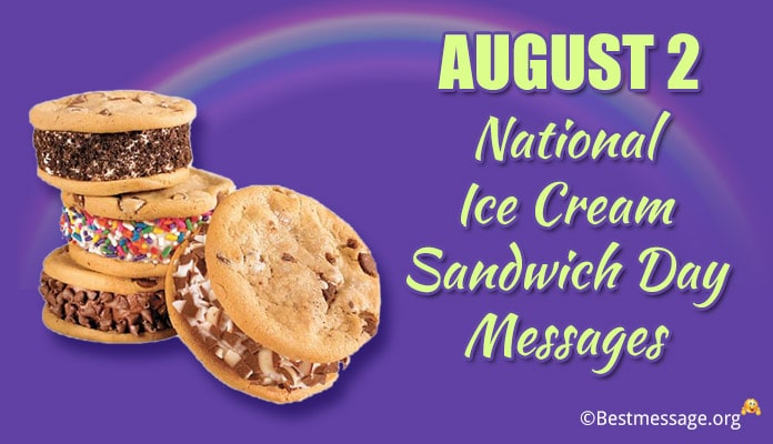 National Ice Cream Sandwich Day Messages with Images