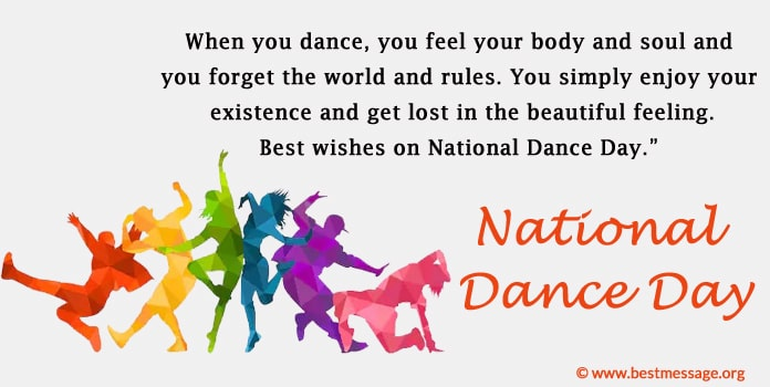 National Dance Day Messages Images, Photos