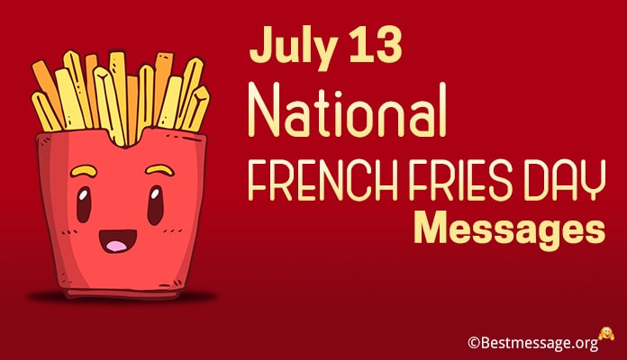 National French Fries Day Messages, Greeting Images