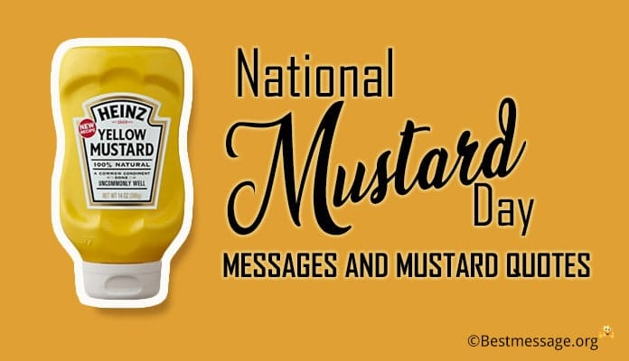 Mustard Day Messages and Mustard Quotes