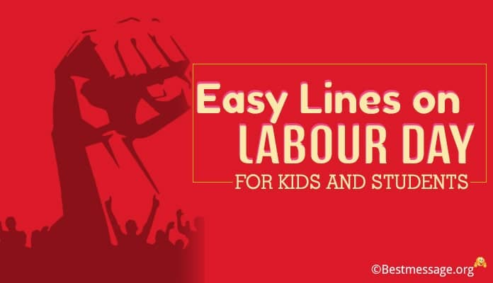 lines on Labour Day for kids and Students