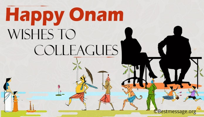Onam wishes to colleagues
