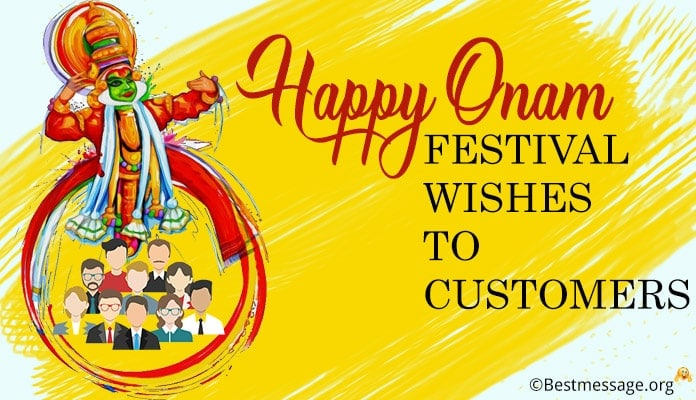 Onam Wishes to Customers - Onam Messages