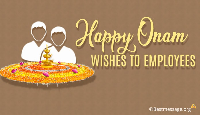 Onam Greetings Messages Wishes to Employees