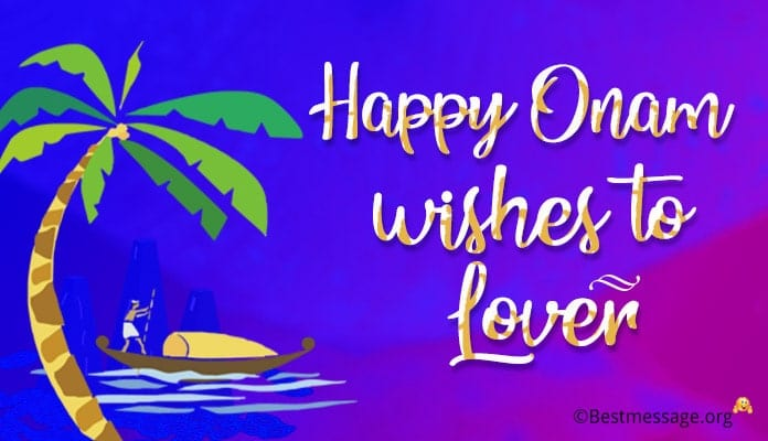 Onam wishes to Lover