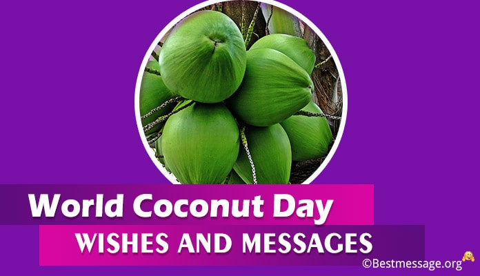 Coconut Day Wishes, messages, Greetings Image