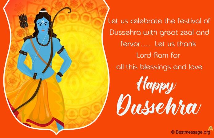 Dussehra Whatsapp Status Facebook Messages Image