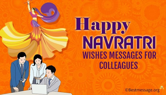 Navratri Wishes Messages for Colleagues