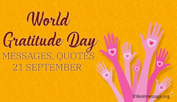 World Gratitude Day Messages, Quotes Wishes