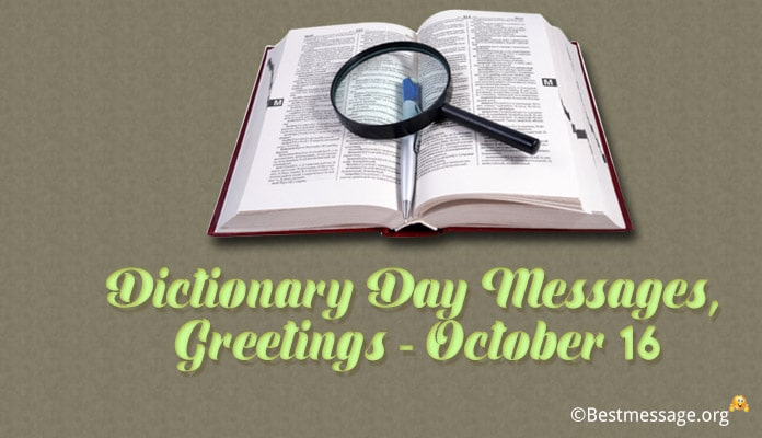 Dictionary Day Messages, Greetings