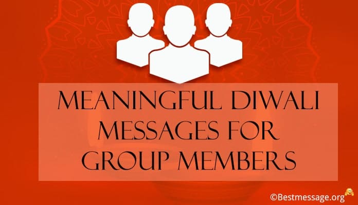 Diwali Wishes Messages for Group Members